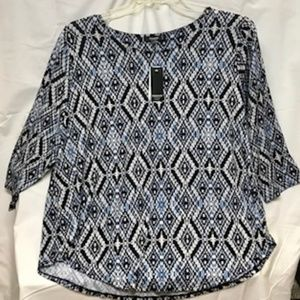 Premise Studio Diamond Knit Top - Size 2X, NWT